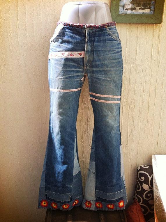 Vintage bell bottoms jeans-boho jeans-vintage Lois