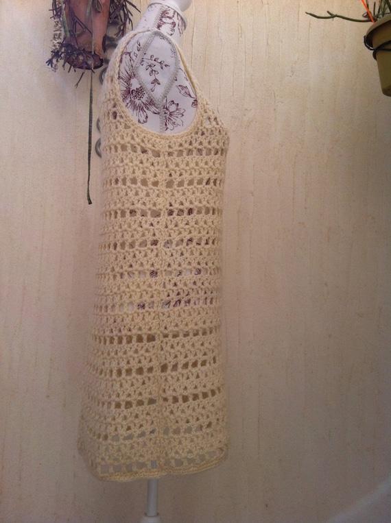 Vintage 70s crochet boho sweater vest  - vintage … - image 3