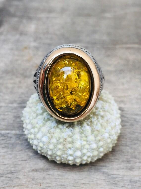 Vintage ring-vintage yellow ring-man vintage ring-