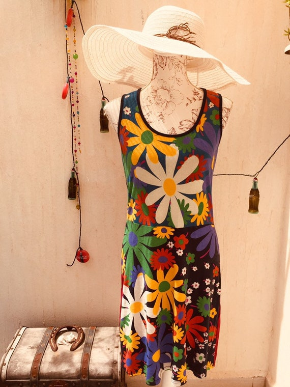 Vintage dress-boho dress-retro clothing-retro dres
