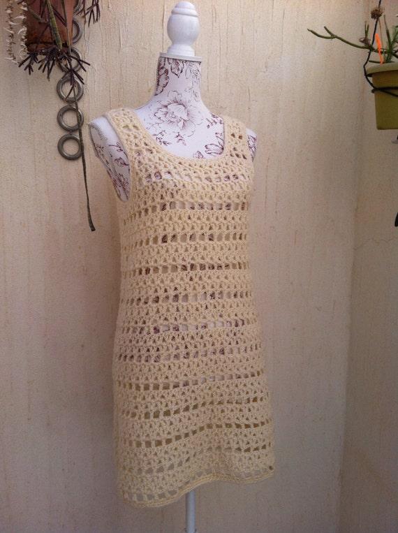 Vintage 70s crochet boho sweater vest  - vintage … - image 2