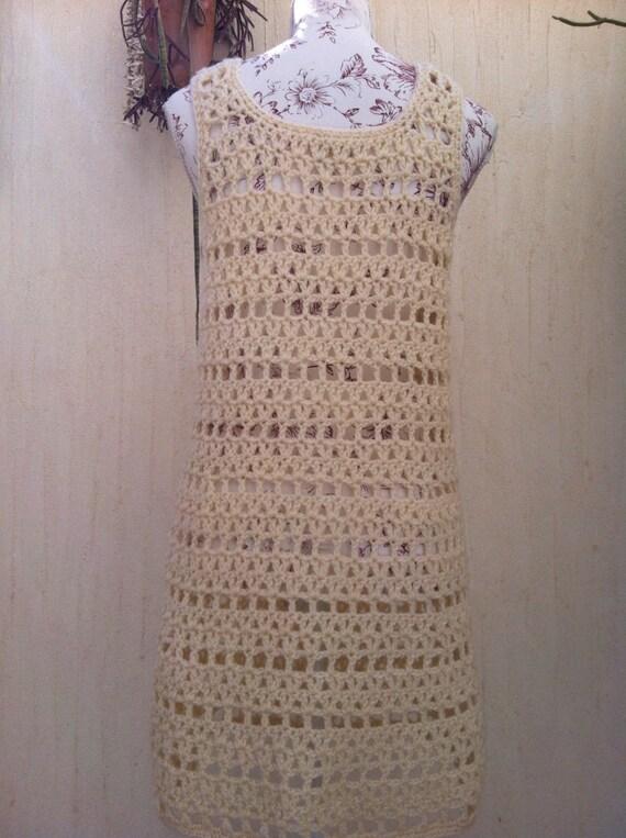 Vintage 70s crochet boho sweater vest  - vintage … - image 4