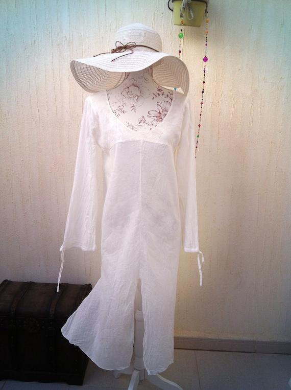 Vintage boho dress - vintage sun dress- vintage be