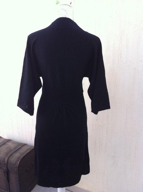 Vintage dress-boho dress-black dress-hippie dress… - image 4