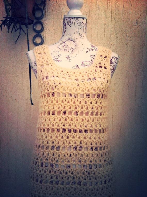 Vintage 70s crochet boho sweater vest  - vintage … - image 5
