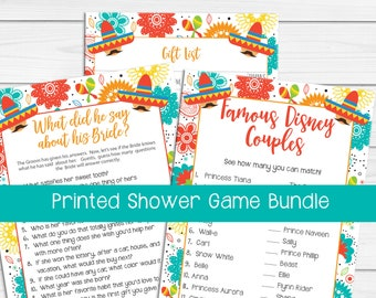 PRINTED Bridal Shower Game Bundle, Printed Bridal Shower Games, Printed Wedding Shower Game, Printed Couples Bridal Shower, P2010