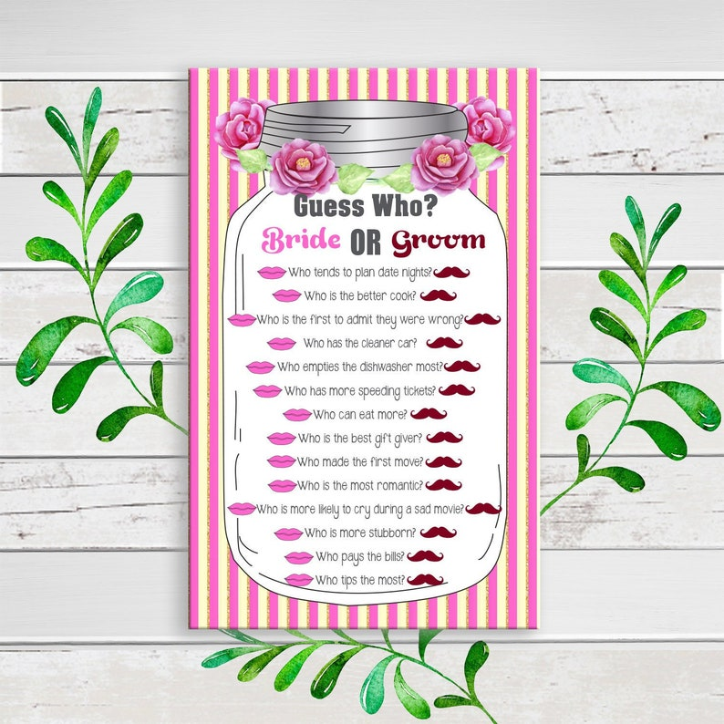 Guess Who Bridal Shower Game Printable Guess Who Said It image 0