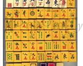 Vintage Asian Game Pieces 2 Digital Download Collage Sheet