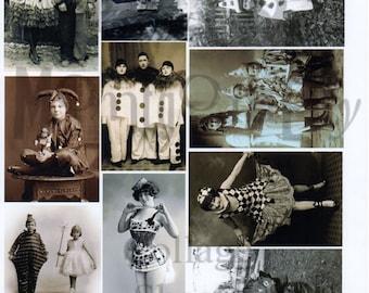 Vintage Halloween Photographs Number 3 Digital Download Collage Sheet
