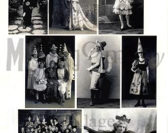 Vintage Halloween Photographs Number 2 Digital Download Collage Sheet