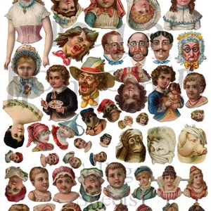 Art Doll Parts Number 2 Digital Download Collage Sheet