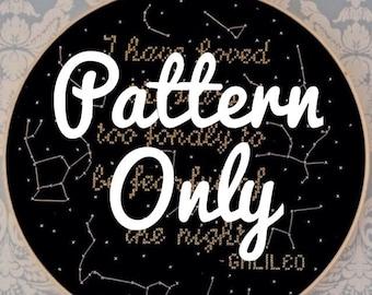 I Have Loved the Stars- Cross Stitch Pattern