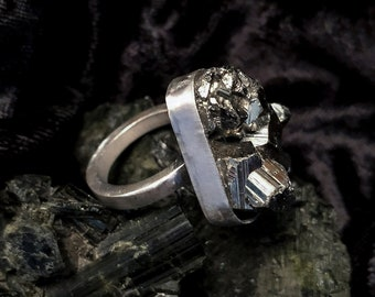 Deneb Pyrite Sterling Silver Ring
