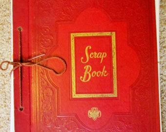 Vintage Brownie Girl Scout Scrapbook Album circa 1950's