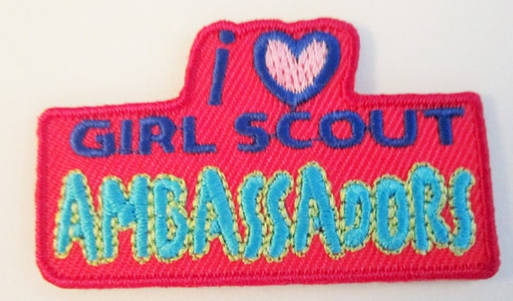 """CLEARANCE Girl Scout Fun Patch """"I Love Girl Scout"""