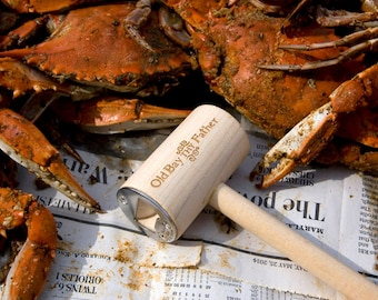 Old Bay Thy Father Crab Mallet Bottle Opener - Stocking Stuffer - Made of Reclaimed Wood
