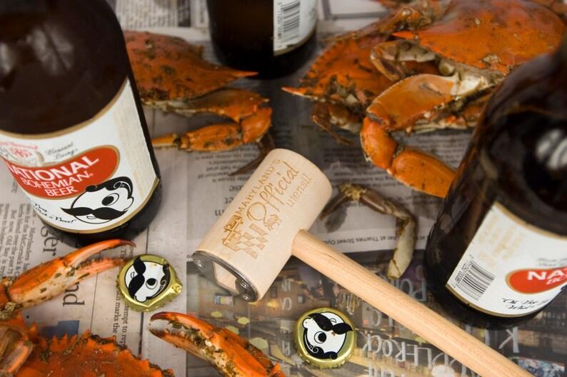 Maryland Pride Kitchen Utensil Crab Mallet Bottle Opener with image 0