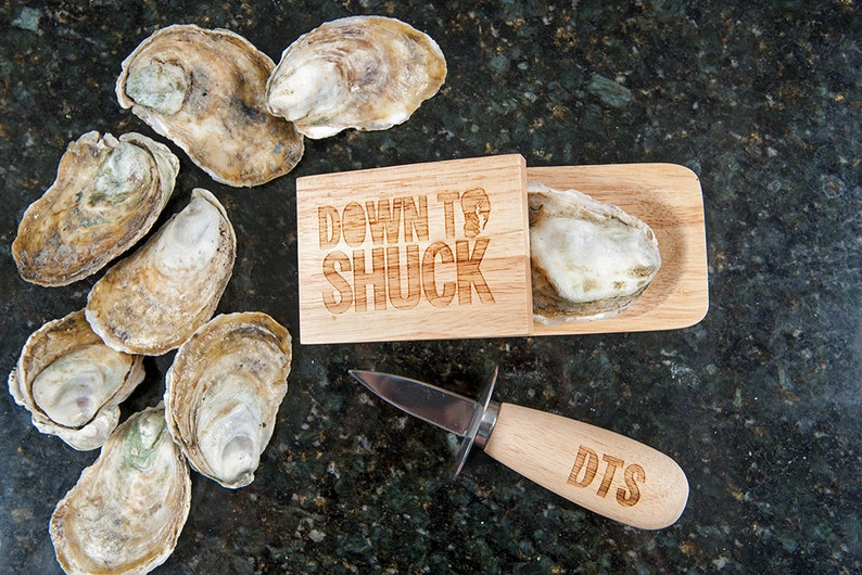 Down to Shuck Oyster Knife and Shucking Block Gift Set  image 0