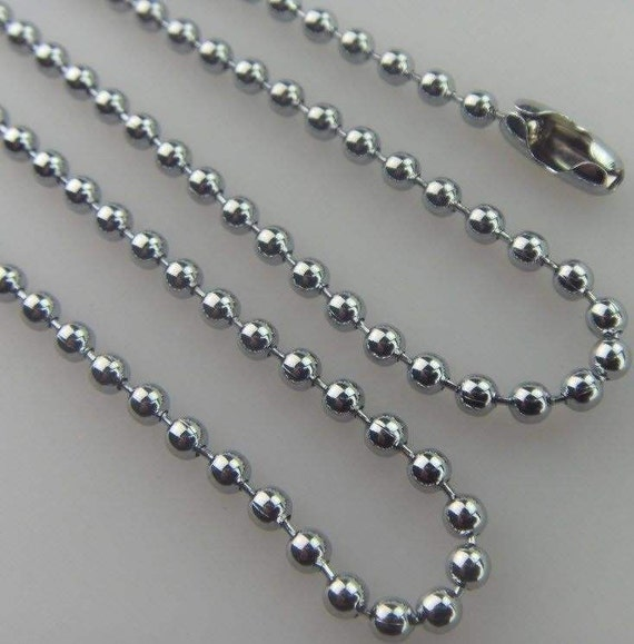 """50 Silver Ball Chain Necklace 2.4mm Ball Chains 18/"""""""