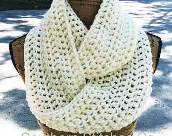 Infinity Scarf Crochet Scarf Women's Accessories Custom Eternity 72 Colors Options