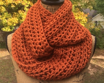 Infinity Scarf Custom Color Crochet Scarf Women's Accessories Custom Eternity 72 Colors Options