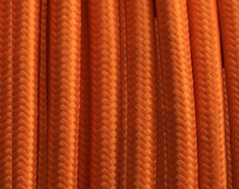 Cable electric textile orange 2 strands - 0.75 mm 2