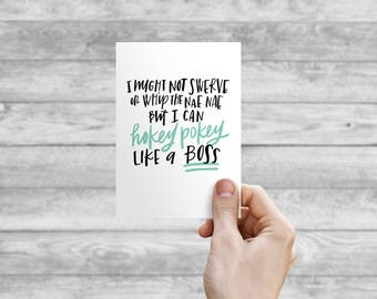 Greeting Card - Hokey Pokey | Hand Lettering, Thank You Card, Wedding Card, Wedding Shower Card, Anniversary Card