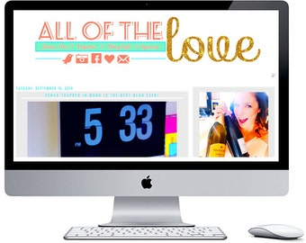 All of the Love Blogger Blog Template ***Includes Installation***