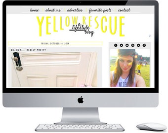 Yellow Rescue Blogger Blog Template ***Includes Installation***