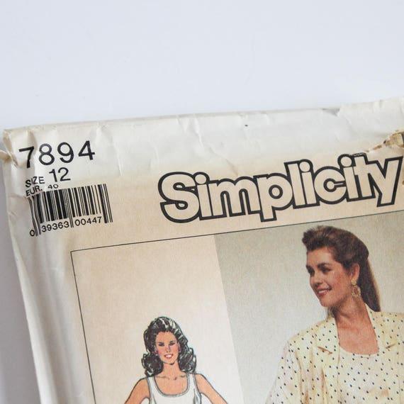 7894 de 12 tamaño camisa chaqueta de simplicidad las mujeres | Etsy
