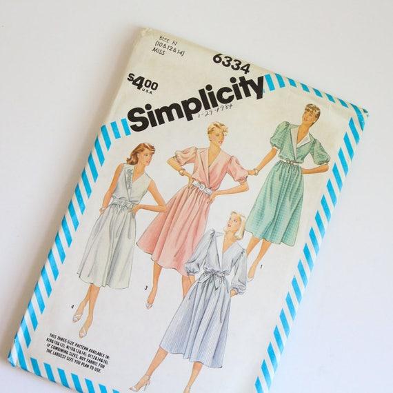 TAMAÑO 10 12 14 6334 sencillez mujer vestido sin cortar coser   Etsy