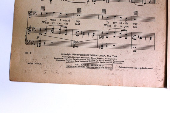 Sheet Music Piano Voice Guitar Have A Little Faith In Me By Lewis Young Warren From Spring Is Here Song 1930 Orange Brown Antique Vitaphone