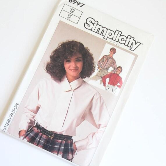 TAMAÑO 12 6997 simplicidad mujeres blusón camisa superior | Etsy