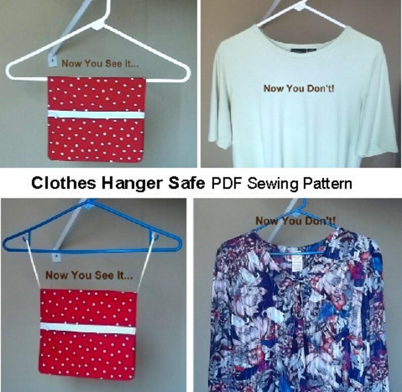 Clothes Hanger Safe PDF Digital Sewing Pattern keeps money image 0