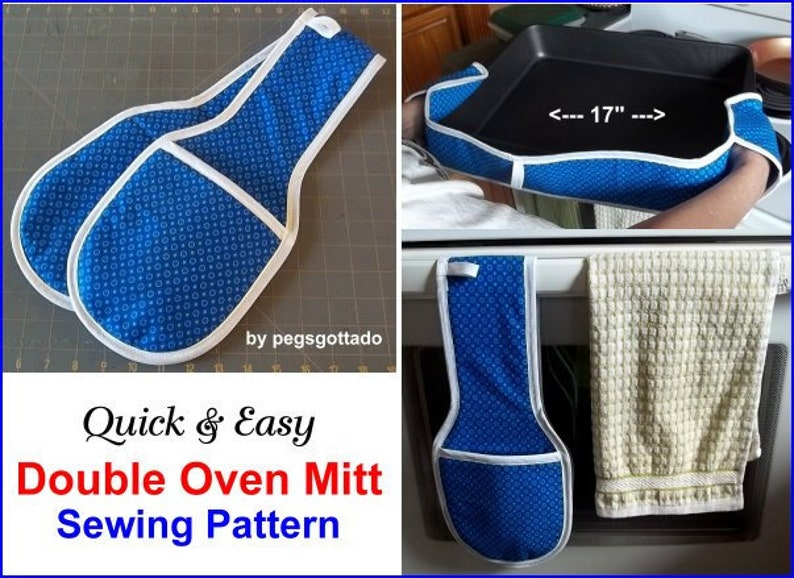 Double Oven Mitt Digital Sewing Pattern a great kitchen helper image 0