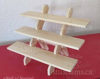 "3-Shelf 24"" - Portable Tabletop Display Stand"