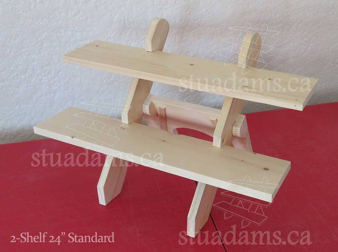 2 Shelf 24 Collapsible Riser Portable Display Stand Etsy