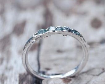 Rough blue diamond ring // Hidden Gems