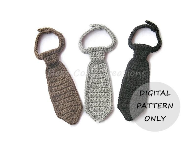 Neck Tie Pattern PDF PATTERN ONLY Crochet Necktie Tie image 0