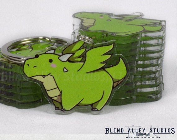 Pickles the Dragon Acrylic Keychain