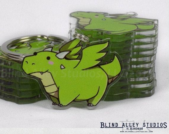 Pickles the Dragon Acrylic Keychain
