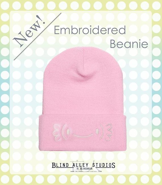 Axolotl Emoji Beanie Hat