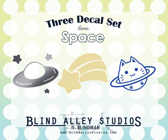 Space Time Three Decal Set