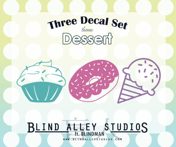 Dessert Time Three Decal Set