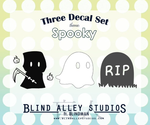 Spooky Time Three Decal Set