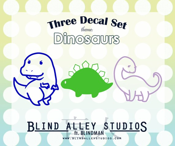 Dino Friends Three Decal Set
