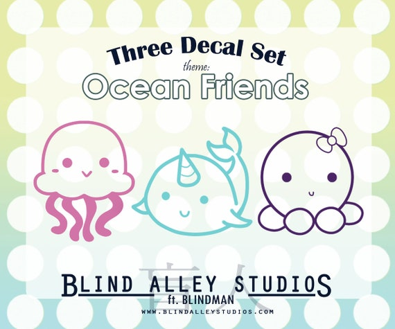 Ocean Friends Three Decal Set