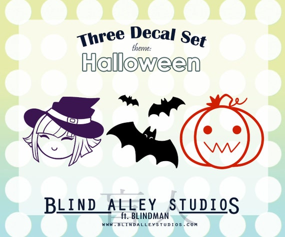 Halloween Time Three Decal Set
