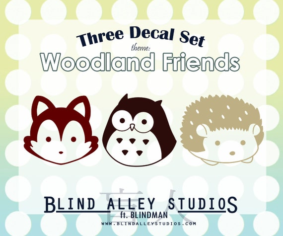 Woodland Friends Three Decal Set