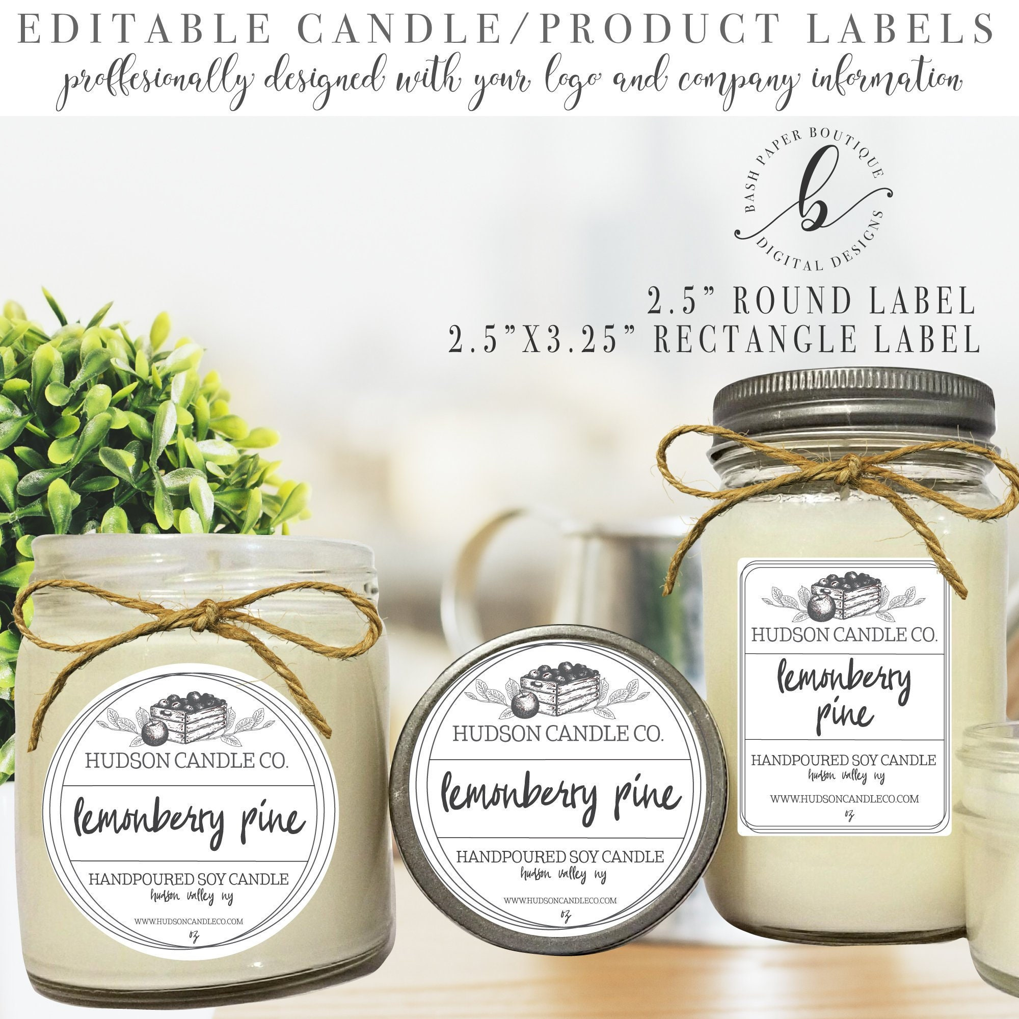 Custom candle labels candle label template candle label design custom labels for jars custom product branding product template